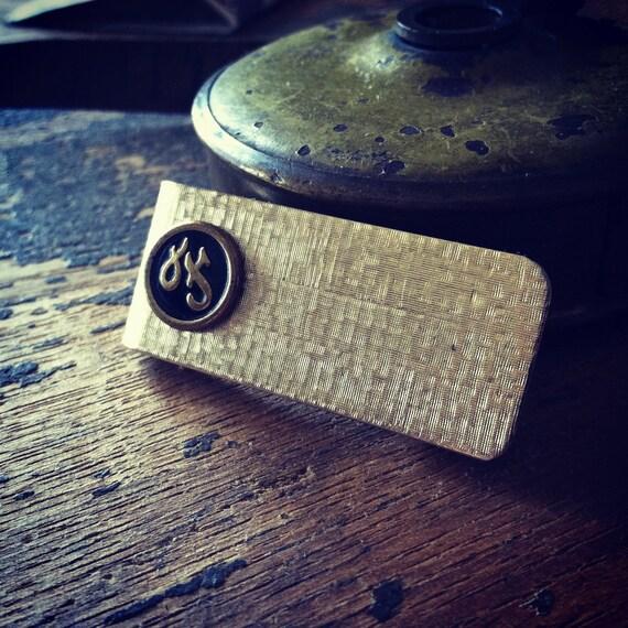 Vintage Mens Money Clip bill clip raw brass antique vintage jewelry wallet mens accessory
