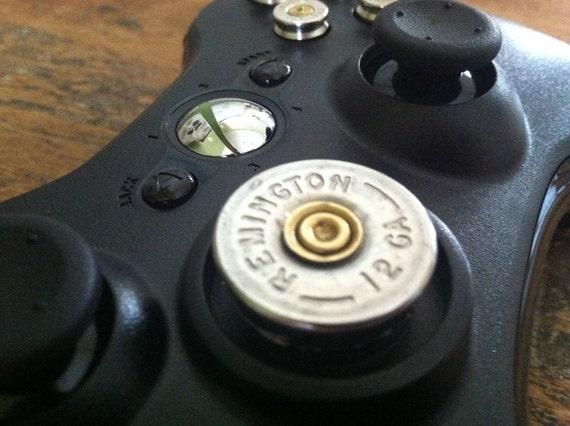 Xbox 9mm Shotgun Shell bullet button Controller Video Game gun nickel shells handmade handcrafted video games call of duty gears of war