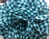 Gingham chiffon puff supply for headband and hair clips
