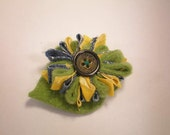 Brown-eyed Susan Clip - Yellow Blue Green Country Style Daisy Hair Accessory