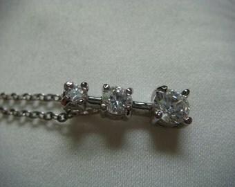 3 Rhinestone Prom Necklace