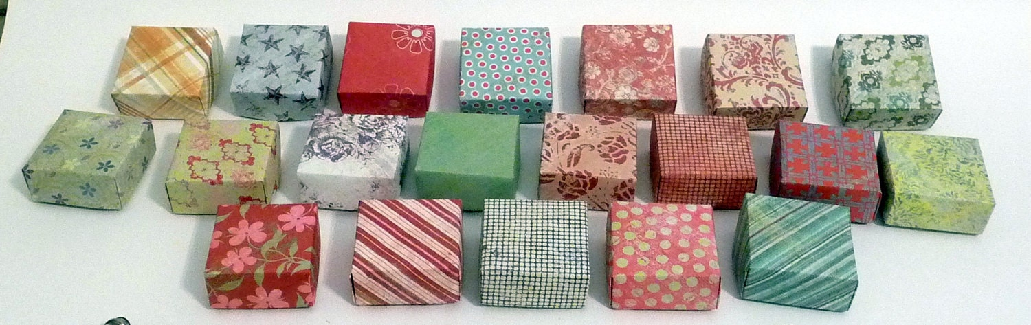 Set of 20 Small Gift Boxes Jewelry Box Origami Box Favor