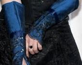Countess' Cuffs - Midnight Blue - Victorian Steampunk