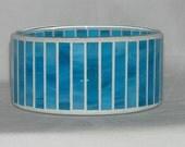 Turquoise mosaic candy dish
