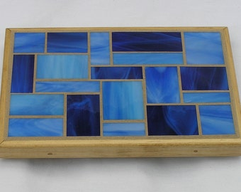 Blue Glass Mosaic Trivet
