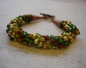 Forest Leaves Bracelet - 8 inch crocheted bracelet