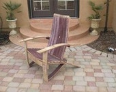 Wine Barrel Adirondack Chair (Large Size) Woodworking Plans