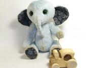 Sebastian - the elephant. OOAK teddy bear friend
