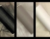 "15 Yards of 6"" Tulle - Cool Neutrals- 5 Yards Each"