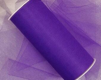 "6"" Purple Tulle - 5 Yards"