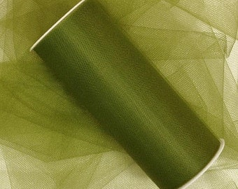 "6"" Olive Green Tulle - 5 Yards"