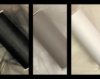 """15 Yards of 6"""" Tulle - Cool Neutrals- 5 Yards Each"""