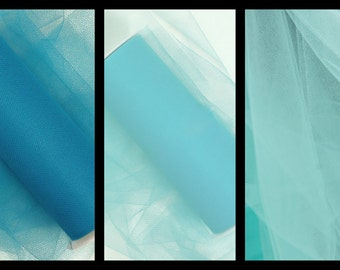 "15 Yards of 6"" Tulle - High Seas- 5 Yards Each"