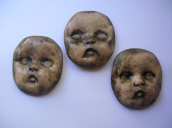 Grungy Creepy Baby Doll Faces