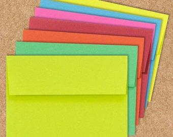 A6 Invitation Envelopes (4 3/4 x 6 1/2) - Brights - Pick A Color - Quantity of 50