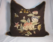 Vintage Hand Embroidered Pillow