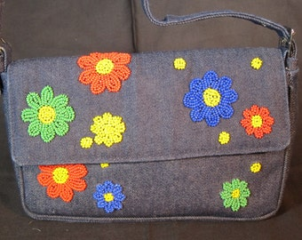 Denim Daisy Bag