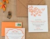 Branches Letterpress Invitation Suite DEPOSIT
