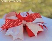 Adorable Heart Shaped 4 inch Hair Bow