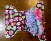 Whose Booty with Ruffles Owls Pocket Diaper