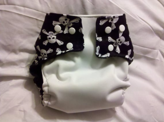 Cutie Booty Pirate Booty  Pocket Diaper with Insert
