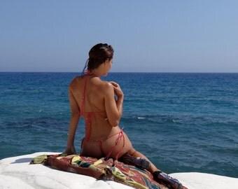 Swimwear  handmade crochet Bikini - Pink dream