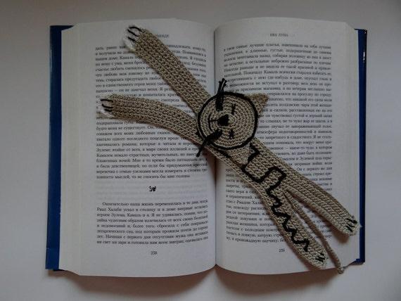 Handmade crochet Bookmarks - Gray cat