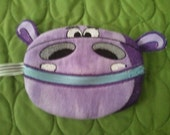 Purple Hippo Zippered Coin Purse