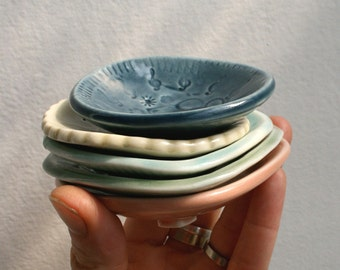 5 Small Dishes, gift for men, Fathers Day, sauces, condiments, coins