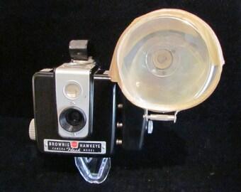 1950s Kodak Brownie Hawkeye Flash Model with Original Box Instruction Manual Very Good Condition