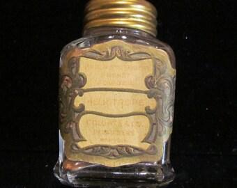 1900s Colgate Sachet Bottle with Sachet Vintage Art Deco Excellent Condition  RARE