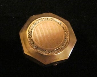 Djer Kiss Compact Powder Compact Rouge Compact Mirror Compact 1920s Art Deco Very Good Condition