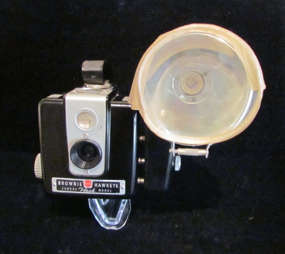 1950s Kodak Brownie Hawkeye Flash Model with Original Box Instruction Manual Very Good Condition