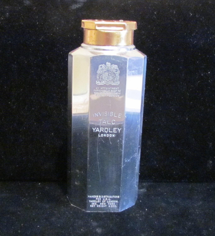 1930s Yardley Tin Invisible Talcum Powder Mens By