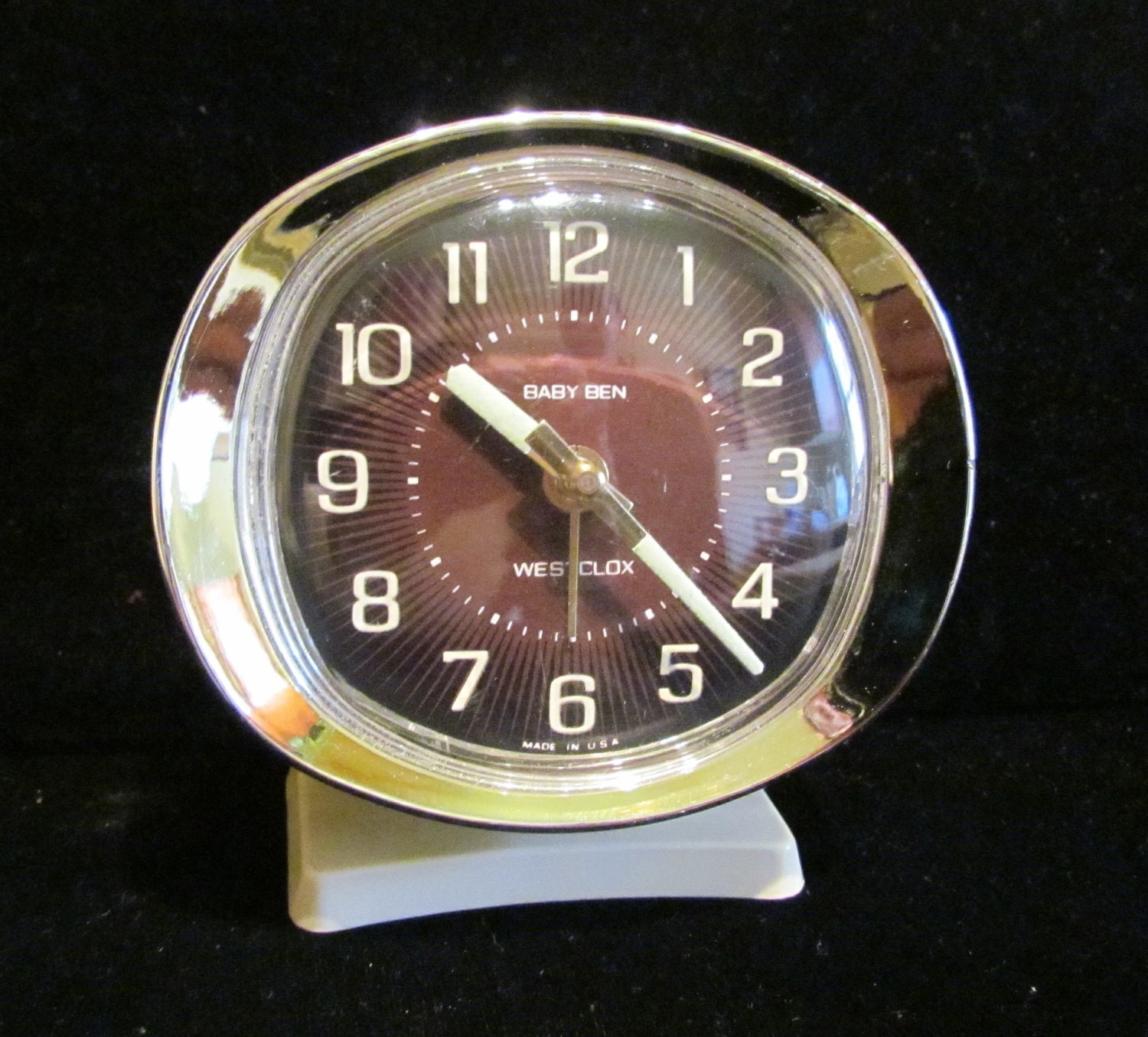 Vintage Westclox Baby Ben Travel Alarm Clock 1950s Made In Usa
