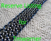 Black and Blue Japanese Lace - RESERVED