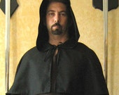 Medieval Celtic Monk Caplet with Hood