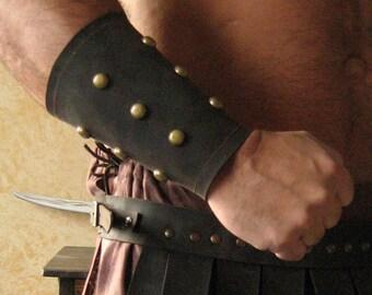 "Medieval Armor Viking Barbarian 6"" Bracers (Studded)"