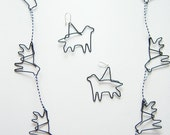 Dog themed paper clip jewelry
