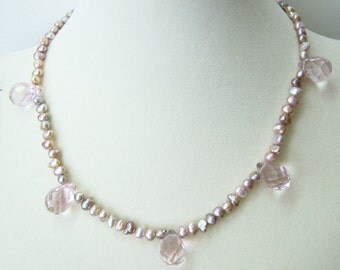 In The Pink necklace & earrings