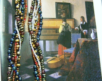 Vermeer: The Music Lesson necklace and earrings