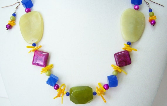 50% OFF! FIESTA necklace and earrings just for fun.