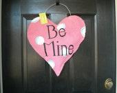3D Burlap Valentine Heart Door Hanger