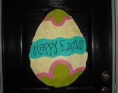 Burlap Easter Egg Door Hanger