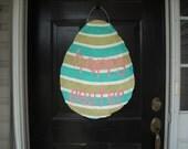 Burlap Easter Egg Door Decoration