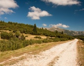 Mountain View Photograph, Nature Photography, Fine Art Scenery, Clouds Pathway, Photo Paper, Travel Photography, Hike