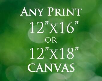12x16 Print or 12x18 Print, Fine Art Photography, Photography Photo Paper Rag or Canvas Print, Customizable Fine Art Choose Any Photo