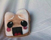 Scared Toast Plush Softie