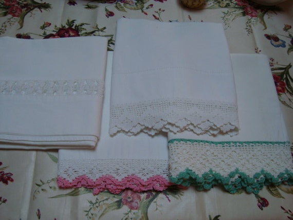 Beautiful VIntage Pillowcases