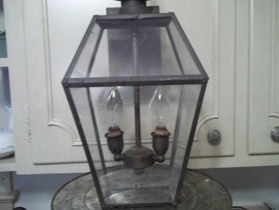 Lantern VIntage Coach Light Fixture Old Brass